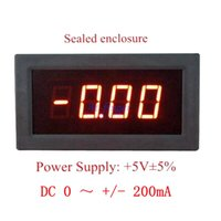 1pcs Digital Panel Ammeter DC 0 à +/- 200mA Ampère Meter avec LED rouge Amp Current Guage 3 Digits 0.56