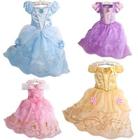 Wholesale Order Tutu - Cinderella Dresses Girls Dress Pre-order Princess Lace Formal Dresses Party Gauze Dresses Floral Kids Girls Clothes Dressy J4548