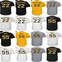 Wholesale Cheap Ladies Black Shorts - 2017 Men Lady Kid Toddler Pittsburgh 22 Andrew McCutchen 55 Josh Bell White Gray Black Gold Cheap Cool Flex Base Baseball Jerseys
