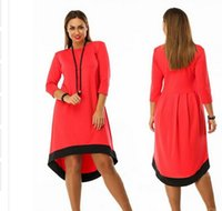 Wholesale Plus Size Bohemian Winter Clothing - Plus Size Autumn Winter Dress Women Clothing Long Sleeve Ladies Fashion Party Dresses Sexy Plus Size O-Neck Casual Vestidos
