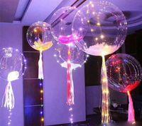 ingrosso stringa illumina i bambini-New bobo ball wave led line balloon balloon light con luce colorata per Natale Halloween Wedding Party bambini Decorazione casa LLFA