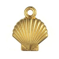 Wholesale Gold Seashell Charms - Good Qulaity 50pcs a lot Zinc Alloy Antique Silver&Gold Floating Seashell Pendant Navigation Charms For Gift&University DIY Jewelry