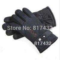 Wholesale Winter Male Bicycles - Wholesale-Free shipping 2015 fashion new men's thickening thermal gloves,high quality winter male suede fabric bicycle mittens