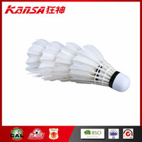 Kansa-0811 Best Seller Branded Good Flight Durabilidade Pena de pato Badminton Shuttlecock Portable White Duck Feather Shuttlecocks