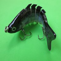 Wholesale Free Bass Bait - free shipping 3pc new 7-section multi jointed trout fishing swimbait crankbait bass lure