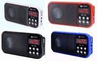 Pantalla LED USB Tarjeta Micro SD MP3 Radio FM Torch Altavoces digitales Hi-Rice SD-102