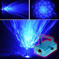 lazer ışını evreleme toptan satış-LED Su Dalgaları Işık LED Lazer Sahne Aydınlatma Renkli Dalga Dalgalanma Parlayan Etkisi Disko Işık için Parti Disko Konser Topları