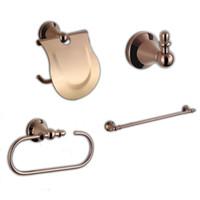 Wholesale Copper Bathroom Accessories Sets - Bathroom Accessories Sets 304 Stainless Steel and Copper Bathroom Hardward Including Toilet Paper Holders,Robe Hooks,Towel Rings,Towel Bars