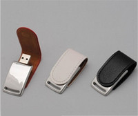 Wholesale Leather Usb Flash Drive 32gb - 2017 Latest Leather case 16GB 32GB 64GB USB Flash Drive thumb drive for Windows IOS Android system tablet PC