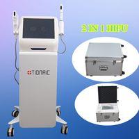 Wholesale portable ultrasound facial - 5 Heads HIFU Portable High Intensity Focused Ultrasound HIFU Ultrasonic Facial Care Machine Anti-wrinkle beauty equipment