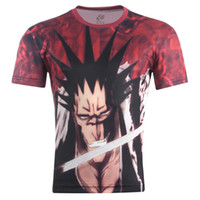 Wholesale Free 3d Animations - Wholesale-New Arrivel Men Short Sleeve 3d T-Shirt Men's One piece Naruto Animation cartoon Printing 3d T Shirt Free Shipping
