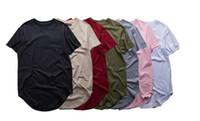 t-shirts prolongés gratuits achat en gros de-Livraison gratuite mode hommes étendu t-shirt longline hip hop tee shirts femme justin bieber swag vêtements harajuku rock tshirt homme