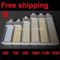 Wholesale Led Pl Downlight - 4 pin led g24q-1 g24q-2 g24q-3 pl Lamp 5W 7W 9W 10W 11W 12W 13W 14W 2835 5730 downlight bulb AC85-265V 110V 220V