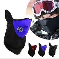 aquecedores de rosto venda por atacado-Atacado-50pc / lot aquecedores de pescoço de lã Balaclavas CS Hat Chapelaria máscara de esqui de inverno ouvido à prova de vento quente máscara facial motocicleta bicicleta cachecóis