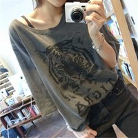 2015 estate donne Jersey Top Tee femminili lettere casuali T-shirt stampata American Apparel Large Size Tops femminile Tiger magliette