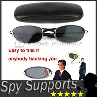 Wholesale Spy Mirrors - [1PCS][Free Shipping] Anti Track UV Protection Anti - Tracking Device Anti - UV Spy Sunglasses with Protective Case Rearview Mirror Glasses