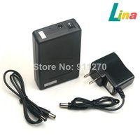 Wholesale Li Ion Pack 12v - DC 12V 6800mAh Portable Super Capacity Rechargeable Li-ion Battery Pack US Plug for CCTV Cam Monitor LED Strip 5.5x2.1mm