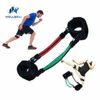 tubos de entrenamiento de resistencia al por mayor-Wellsem Kinetic Speed Agility Training Pierna Running Resistencia Bandas Tubos Ejercicio para atletas Baloncesto Futbolistas