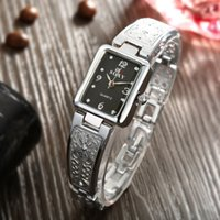 Wholesale Pics Bracelets - Women Watches New Brand SOXY Elegant Luxury Quartz Fashion Rectangle Dial Watch Carved Patterns Bracelet Casual WristWatches PIC