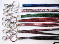 36cm de long Bling Lanyard cristal strass en col avec support Claw Fermoir ID Badge pour 100pcs carte de téléphone portable DHL freeship P71