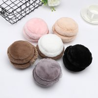 The New Folding Hamburger cute Earmuffs Winter Warm Wool Earmuffs Unisex Plush Warm Earmuffs Ear Cover