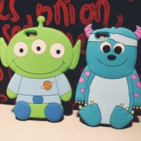 """Wholesale Iphone 3d Alien Cases - 2015 New Arrival 3D Catoon Sulley Aliens Mike Wazowski Red Bear Soft Silicon Protective Back Cover Phone Case For Iphone 6 4.7"""""""
