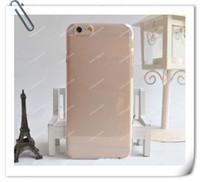 ingrosso nero chiaro hard iphone-Plastica rigida trasparente Trasparente / Nero / Bianco Custodia posteriore per iPhone 6 6G / 6+ Plus 4,7 pollici / 5,5 pollici iPhone 5 5S 5C