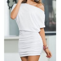 Summer Party donne Sexy Lady Clubwear HipPackage Slim breve mini abito bianco