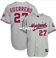 085da921193 Retro Custom  27 VLADIMIR GUERRERO Montreal Expos Baseball jersey or custom  any name or number Throwback men Stitched jerseys ...