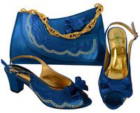 geldbörse passende schuhe großhandel-2017 neueste Mode italienische Schuhe und Tasche Geldbörse, Großhandel Schuhe und Geldbörse Set High Heel Pumpen Schuhe passenden Tasche mit hoher Qualität