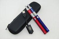 Wholesale Evod E Cig Starter Kit - Double kits evod zipper case double starter kit e cigs mini protank 1 atomizer 650mah 900mah 1100mah battery cig vapor vs ego Kit