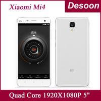 Wholesale Qualcomm Quad - Original Xiaomi Mi4 Xiaomi-Mi4 Quad Core Qualcomm Snapdragon801 2.5GHz M4 Mi 4 1920X1080 JDI 3GB 16GB 64GB 4G FDD LTE Cell Phone