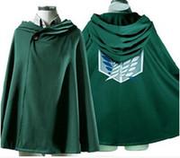 Wholesale cosplay cloak hoodies online - attack on titan cosplay costume hoodie cape attack on titan shingeki no kyojin scouting legion scouting legion cape attack on titan cloak