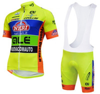 Wholesale Good Cool Clothes - cool ! Good quality ALE Ropa Ciclismo 2014 Short Sleeve Cycling Jersey and Cycling Bib Shorts Kit bicycle Clothing sets yellow