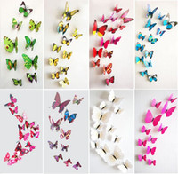 Wholesale 1200 PVC D Butterfly Wall Stickers Decals Home Decor Poster for Kids Rooms Adhesive to Wall Decoration Adesivo De Parede