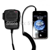 Wholesale Walkie Talkies Shoulder Mic - Wholesale-Retro CB Radio Transceiver Handset for iPhone and Most Smart Phones Shoulder Speak Mic Walkie Talkie