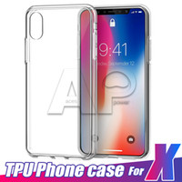 Wholesale Clear Iphone Backing - For IPhone X 10 8 7 Plus TPU Case Clear TPU 0.3MM Ultra Thin Samsung Galaxy S8 Plus Note8 Back Soft Cover