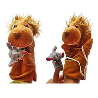 Wholesale Toy Lion Hand - Plush Puppets: The Lion and The Mouse Finger Puppets Kids Talk Prop Preschool Kindergarten Velour Animal Finger Puppets Kids Toy