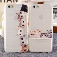 Wholesale Lovely Iphone Wallet Cases - Non slip cute cat for apple iphone 5 5s 5c 6 6plus 4 4s soft Back Cover case new lovely fashion silmple Design silicone tpu case