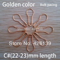 altın emniyet pimli broş toptan satış-Toptan-ücretsiz kargo 1000 adet / grup C # 22mm uzunluk metal armut şekilli altın emniyet pimleri çelik broş pin 4 renkler için seçin