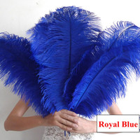 ingrosso piume di struzzo blu royal-Royal Blue Ostrich Feather Taglie Taglie Centrotavola Decorazioni Centrotavola Ostrich Feather Ostrich Plume Decorazione della Festa Nuziale Centrotavola