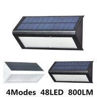 Wholesale Waterproof Led Cover - Brightness 4 in1 Solar Powered Light Outdoor Radar Sensor LED Wall Light Garden Lamp ABS+PC Cover 6W 800lm Waterproof lights
