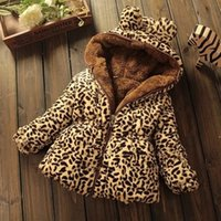 New Fashion Girls Cotton Coat para o inverno Thickening Leopard Clothes for Children Factory Wholesale Full Sleeves Costumes