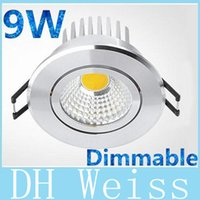 Wholesale High Quality Led Dimmable Drivers - 20pcs lot High Quality 9W Led COB Downlights 120 Degree Warm Natural Cool White Dimmable Led Ceiling Saving Lights lamp With Driver