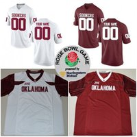 Wholesale Rose 31 - Custom Oklahoma Sooners Rose Bowl College Football Any Name Number 6 Baker Mayfield 23 Abdul Adams 31 Ogbonnia Okoronkwo Stitched Jerseys