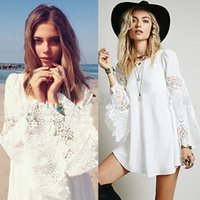 Wholesale Cheap Lace Chemise - 2015 Cheap New Lace Spring Women Long Sleeves Dresses Summer 2015 Heavy Lace Sleeve Chemise Stereo Speakers Left Xiao With Lace Dress