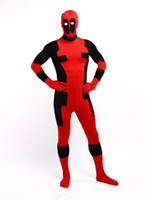Wholesale Scary Zentai Costume - Lycra Spandex Deadpool costumes Super Hero Halloween Costumes