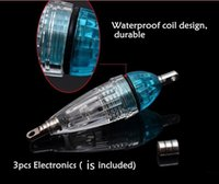 Wholesale Deep Water Fishing Lights - 2017 NEW LED waterproof Fish light Shallow Deep Drop Under water Fishing lure lamp Light with Button Battery