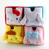 Wholesale Dogs Cosmetic - Cartoon Japan Hello Kitty My Melody Cinnamoroll Dog Fashion Cosmetic Bags Accessories Box Storage Bag Pouch Girl Makeup Bags