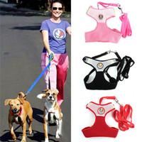 Wholesale Puppy Breathing - Pet Dog Collars Puppy Cat Leash Vest Mesh Breathe Adjustable Harnes Chest Braces Clothes